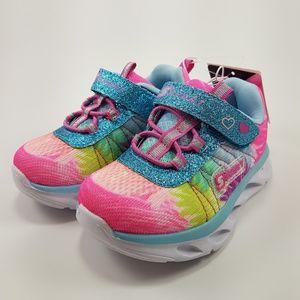 Skechers Girls Light Up Memory Foam Sneakers NWT